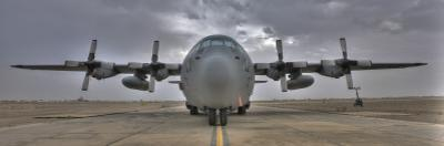 High Dynamic Range Image of a US Air Force C-130 Herucles
