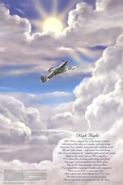 High Flight Poem Military Educational Chart Poster