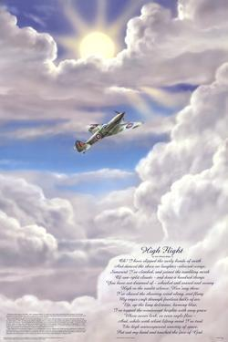 High Flight Poem Military Educational Chart Poster