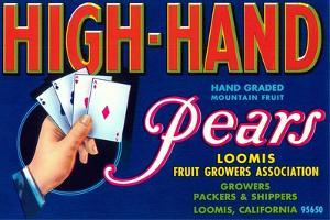 High Hand Pear Label