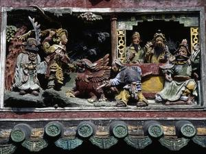 High-Relief in Ancestral Temple of Chen Family, Canton (Guangzhou), Guangdong, China, 19th Century