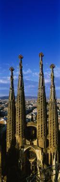 High Section View of Towers of a Basilica, Sagrada Familia, Barcelona, Catalonia, Spain
