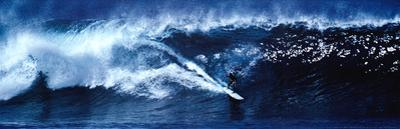 High Surf Surfing Big Wave Panorama