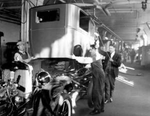 Highland Park Plant, Body Drop, 1926