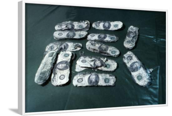Hijacker D. B. Cooper's Monies Found--Framed Photographic Print