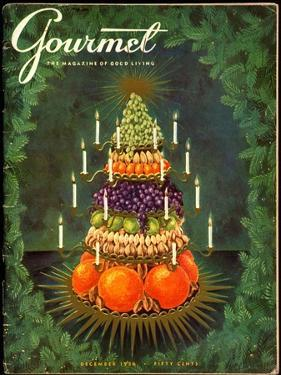 Gourmet Cover - December 1956 by Hilary Knight