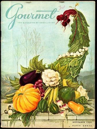 Gourmet Cover - November 1956