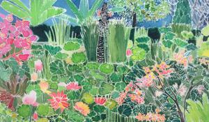 Lotus Pond, Ubud, Bali, 1997 by Hilary Simon