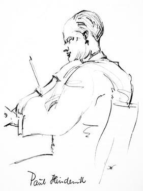 Paul Hindemith (1895-1963) by Hilda Wiener