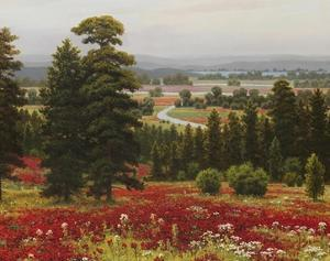 Blooms Above the Valley by Hilger