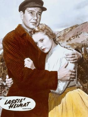 HILLS OF LASSIE, 1948 DIRECTED OF FRED M. WILCOX Tom Drake and Janet Leigh (photo)