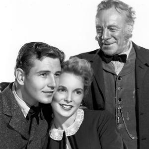 HILLS OF LASSIE, 1948 DIRECTED OF FRED M. WILCOX Tom Drake, Janet Leigh and Edmund Gwenn (b/w photo