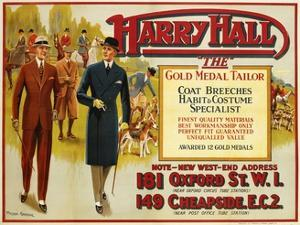 """Harry Hall - """"The"""" Gold Medal Tailor Advertisement Poster by Hilton Greene"""