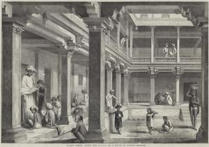 Hindoo School under the Portico of a House in Poonah