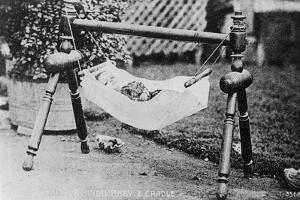 Hindu Baby and Cradle, India, 20th Century