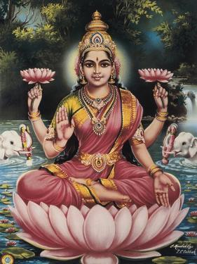 Hindu Goddess Srhi Sentamarai Laximi, Wife of Vishnu