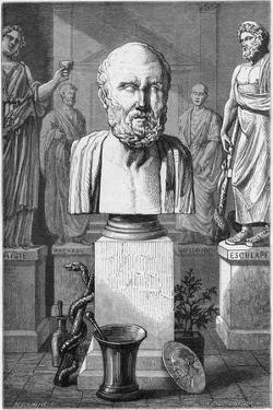 Hippocrates of Cos, Ancient Greek Physician, 1866