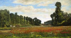 The Poppy Field by Hippolyte Camille Delpy