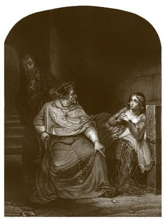 Joan of Arc is interrogated by the Bishop of Winchester