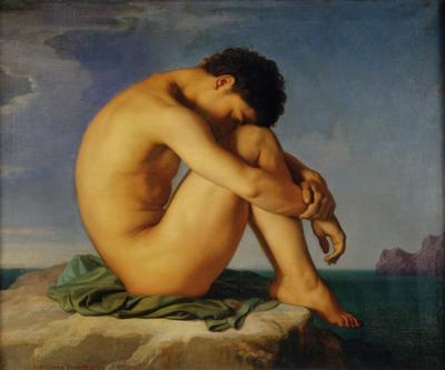 Jeune Homme nu Assis, c.1855