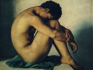 Study of a Nude Young Man, 1836 by Hippolyte Flandrin