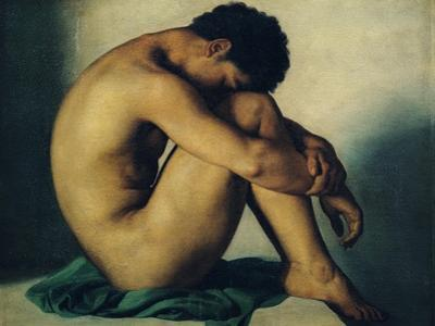 Study of a Nude Young Man, 1836