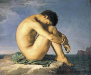 Young Male Nude, 1855 by Hippolyte Flandrin