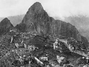 An Elevated View of About Half of the City of Machu Picchu by Hiram Bingham