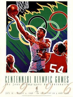Olympic Basketball, c.1996 Atlanta by Hiro Yamagata