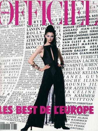 L'Officiel, August 1992 - Daniela Pestova en Karl Lagerfeld by Hiromasa