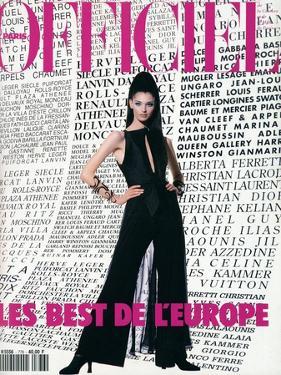 L'Officiel, August 1992 - Daniela Pestova en Karl Lagerfeld by Hiromasa