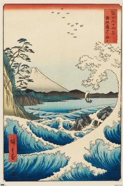 Hiroshige - The Sea at Satta
