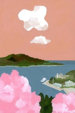 Cherry blossoms and harbors by Hiroyuki Izutsu