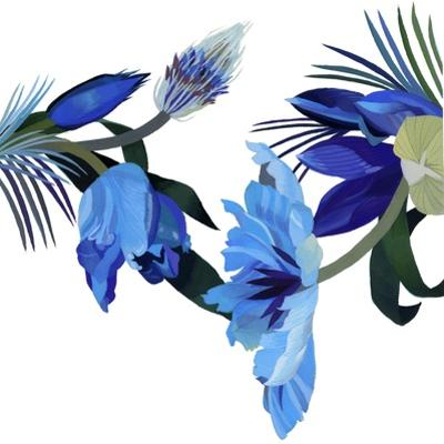Two blue tulips by Hiroyuki Izutsu