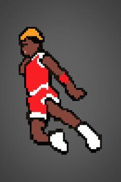 His Airness 8-bit Hall of Fame Plastic Sign