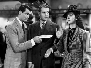 His Girl Friday, from Left: Cary Grant, Ralph Bellamy, Rosalind Russell, 1940