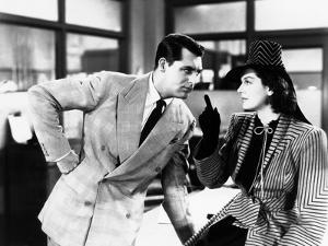 His Girl Friday, from Left: Cary Grant, Rosalind Russell, 1940