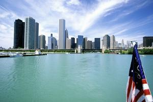 Chicago Skyline and Lake Michigan, Chicago, IL by Hisham Ibrahim