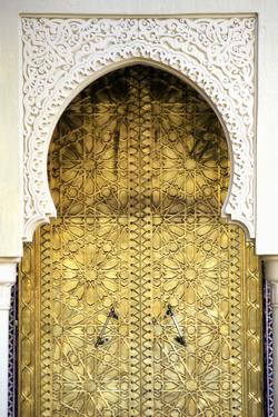 Golden Door and an Arch Way, Casablanca, Morocco by Hisham Ibrahim