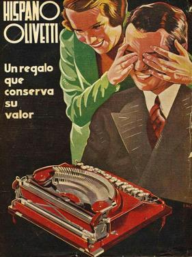 Hispano Olivetti, Magazine Advertisement, Spain, 1935