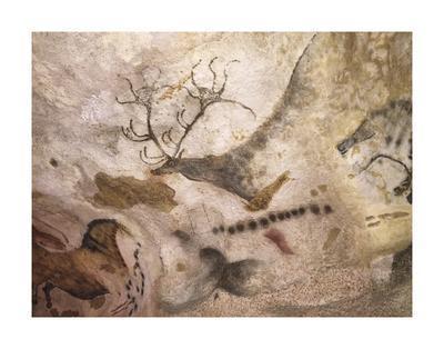 Lascaux Caves - élan aux bois