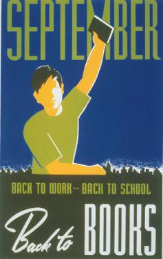 Historic Reading Posters - September - Back to Books