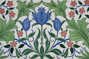 Floral Wallpaper Design with Tulips by William Morris by Historical Picture Archive