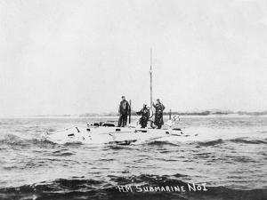 HM Submarine No1, C1908