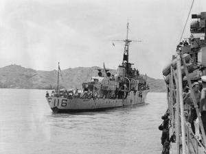HMS Amethyst, after Action on the Yangtze River, 20th April 1949