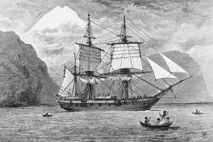 HMS Beagle in Straits of Magellan