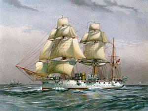HMS Calliope, Royal Navy 3rd Class Cruiser, C1890-C1893