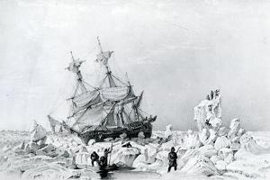 HMS Terror Held on Ice, 1836