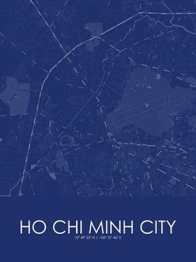 Ho Chi Minh City, Viet Nam Blue Map