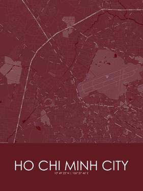 Ho Chi Minh City, Viet Nam Red Map